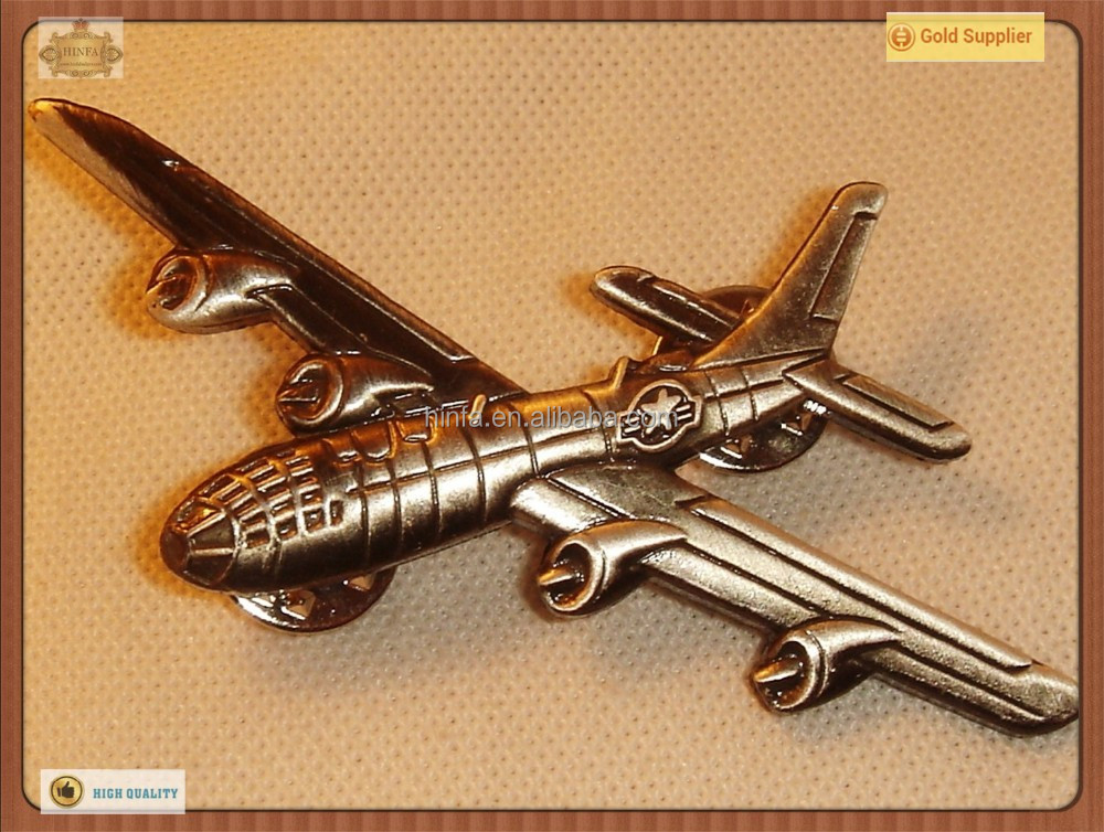 3D Airplane Pins Wholesale with Butterfly Clutch