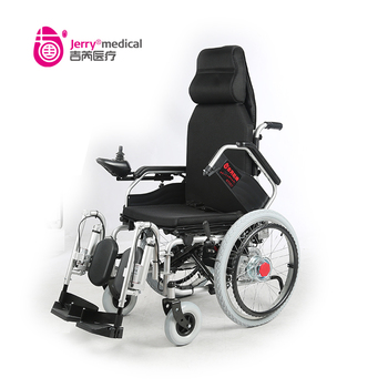 Foldable elevating legrest reclining electric wheelchair