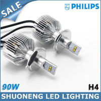 Latest Patent Philips Leading Manufacturer H4 Car LED 9000lm 90W Head Lamp