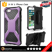 3 in 1 Multi-Functional For iPhone 7 360 Degree Rotatable Kickstand Belt Clip Combo Protective Heavy Duty Phone Case