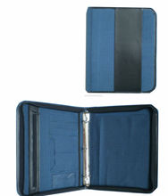 dongguan pu leather padfolio for banking with metal clip