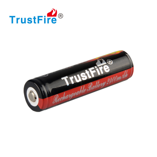 TrustFire lithium-ion batteries 18650 lithium polymer batteries 3.7v 2400mah protected rechargeable battery with CE certificate
