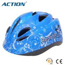 safety kid bicycle helmet skate helmet black EPS blue shinning