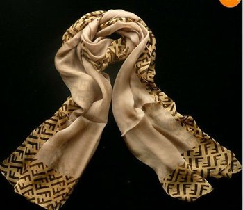 Fashion 100% Silk Chiffon Scarf Floral Prints Shawl Wraps