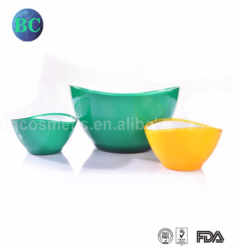 High Quality Wholesale Eco Friendly Food Grade Double Color Aviation Assorted Plastic Noodle Soup Salad Bowl