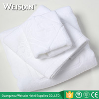 Weisdin wholesale 32S bath room hotel 100% cotton jacquard bath towel