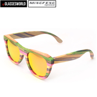 New fashion sunglass china custom factory wood sunglasses ST035