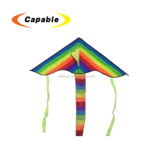 DIY colorful rainbow flying long tail kids kite