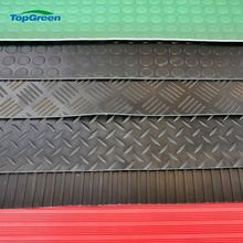 wholesale anti slip broad wide ribbed rubber mat flooring