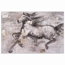 High quality on canvas chinese impressionist running home goods horse oil painting