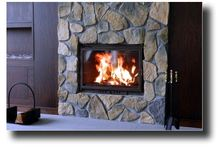 ceramic fireplace tempered large glass panels