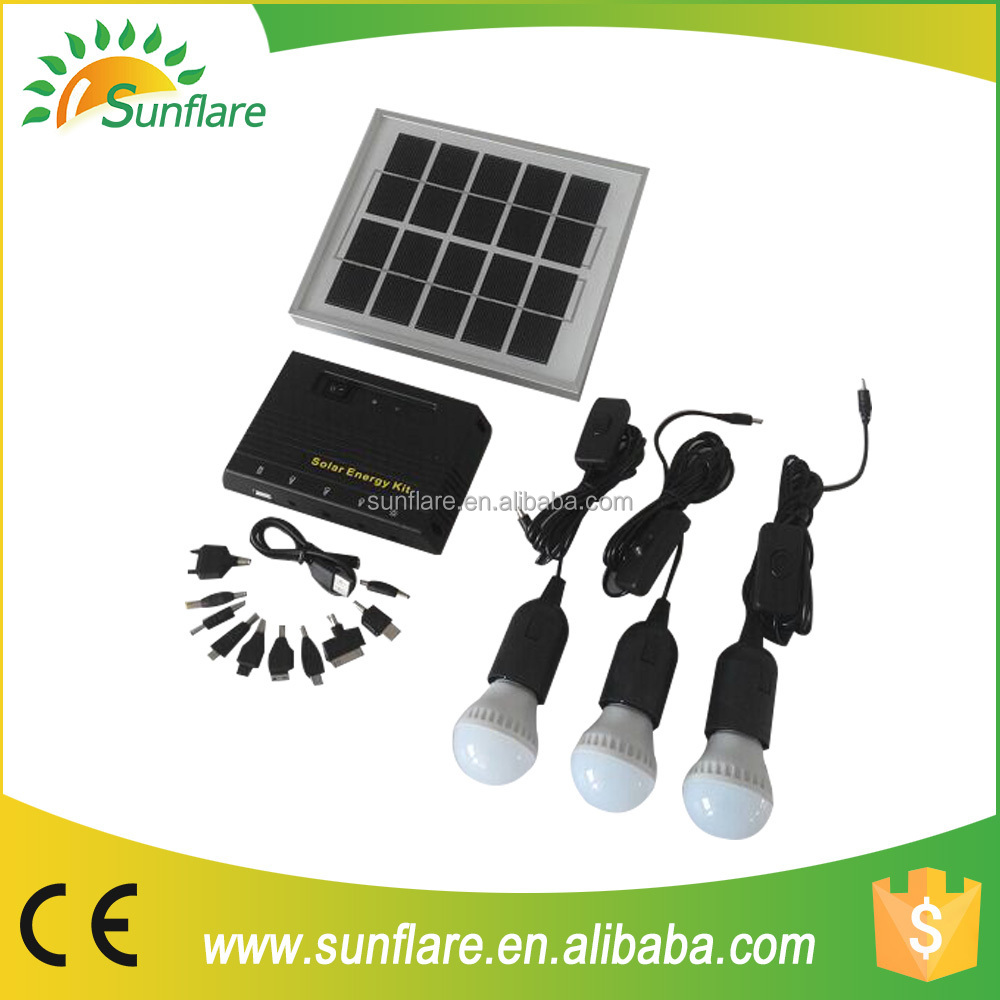 Sunflare hot selling cheap price solar kit for home/camping for africa made in china