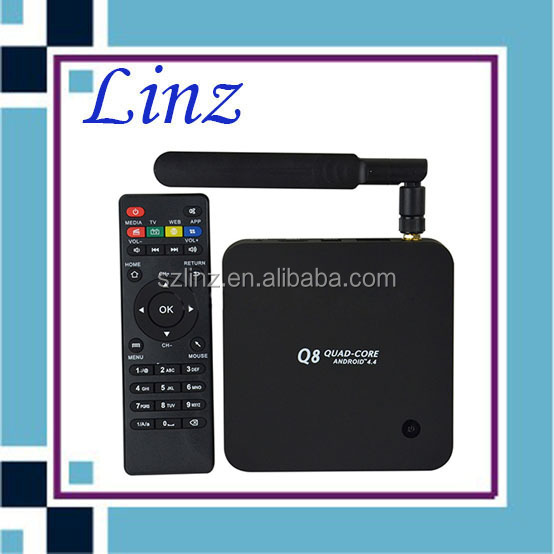 Q8 RK3288 android 4.4 tv box quad core 2GB/8GB Wifi Full HD 4K full hd 1080p porn video xbmc streaming tv box