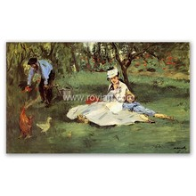 The Monet family in their garden at Argenteuil handmade art replica monet oil painting