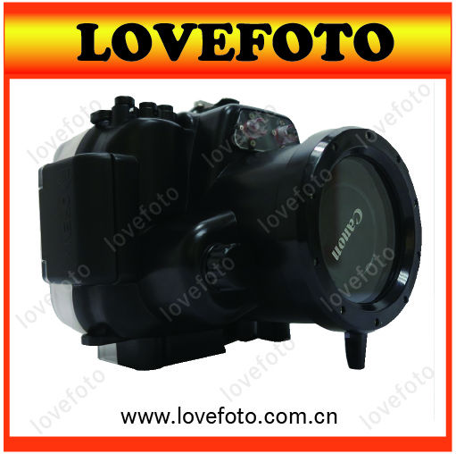 40M 130ft Waterproof Case Underwater Diving Housing For Canon EOS 600D 18-55mm lens