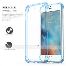 Hybrid Rubber Shockproof TPU Clear Back Cover <strong>Case</strong> For Apple iPhone 7 plus