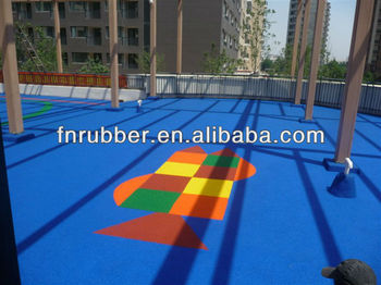 soft and safety courtyard rubber mulch