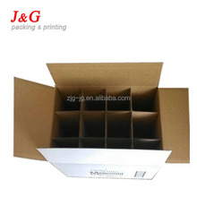 12 bottle cardboard wine box