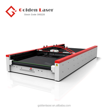 High Speed High Precision CO2 Laser Cutter for Super Wide Outdoor Fabric Industry