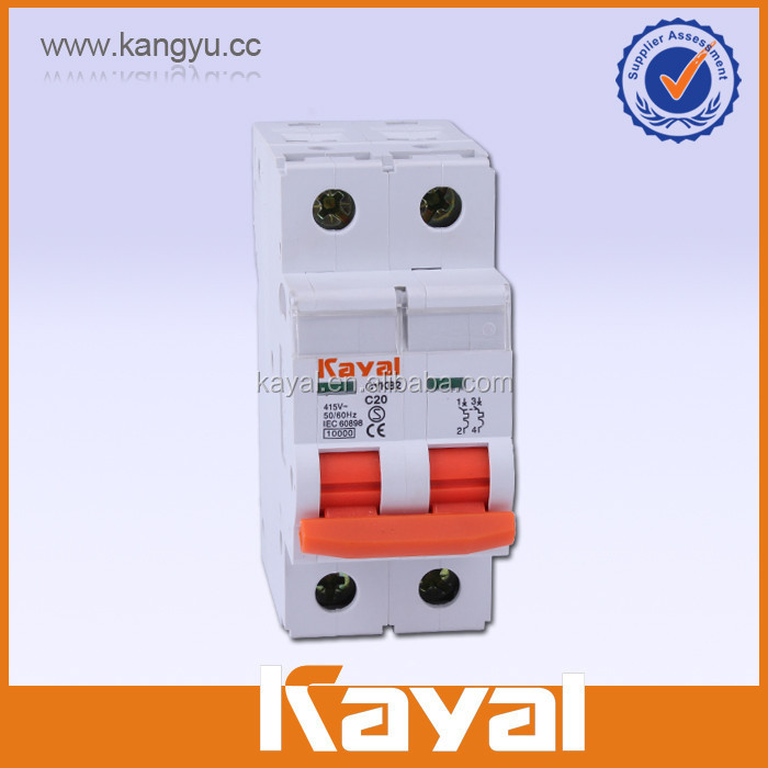10KA long life Miniature Circuit Breaker supplier, miniature circuit breaker mcb 20 amp KEMA Certificate,electronic miniature ci