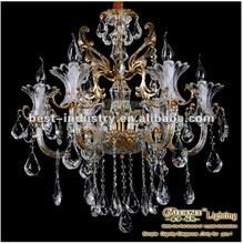 Elegat lamp for sweet home: 2012 latest wholesale brown crystal chandelier with K9 crystal,china chandelier supplier