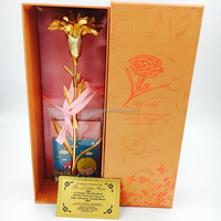 24K Gold Dipped Carnation the best Gift of Mother's Day