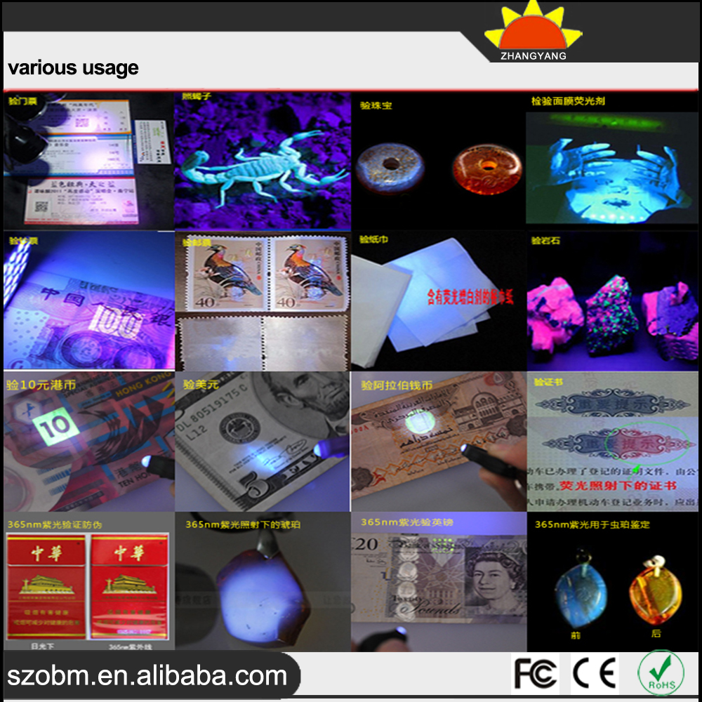 China Wholesale Promotion UV Purple Light 390-395nm LED Keychain