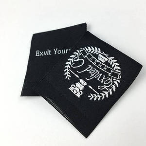 Custom Centerfold Damask Woven Labels For Clothing Garment
