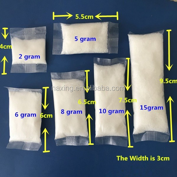 super absorbent polymer sachet as water absorbing material in vomit bag