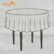 Stock Cheap Disposable Round PEVA Tablecloths Covers