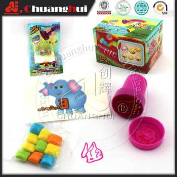 Stamp Toy Candy with Bubble Gum