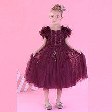 Factory Custom-Made Fashion Kids Party Wear baby Girl Dress