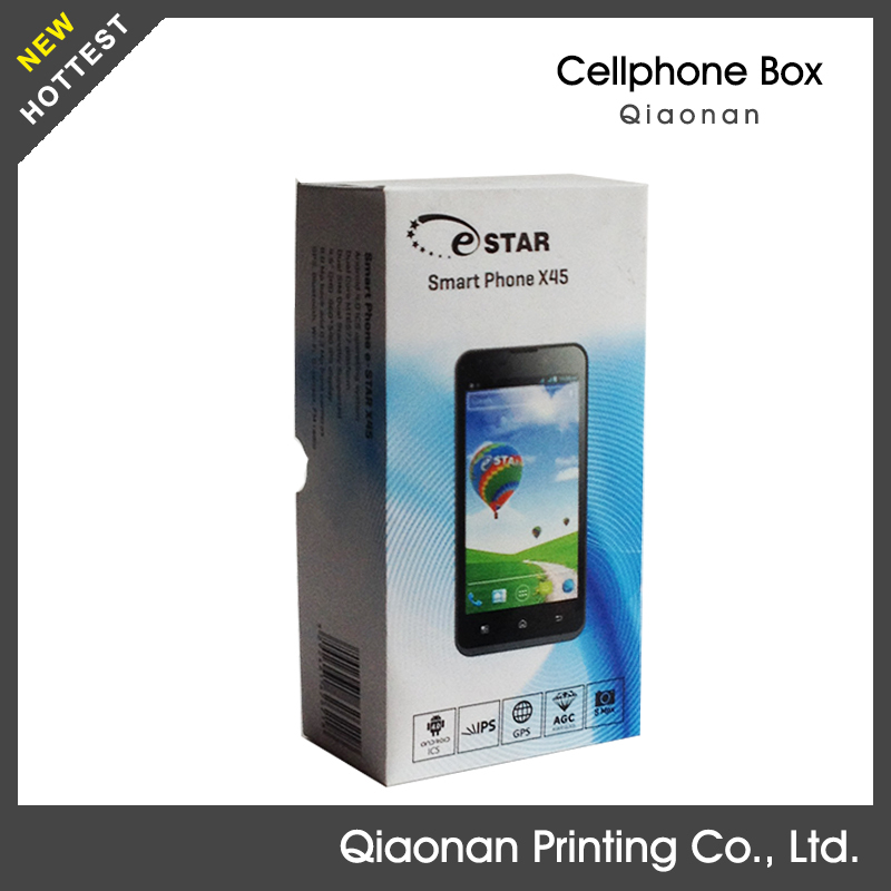 recyclable paperboard unlock box for china mobile phone