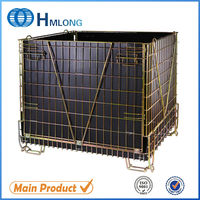 PET Preform Foldable metal wire warehouse storage cage