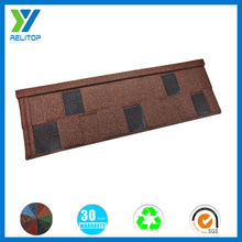 Factory wholesale featured stone coffee brown roof tiles