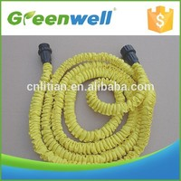 Small MOQ acceptable 25/50/75/100FEET flexible pocketable expandable garden hose with spray nozzle or quick fittings