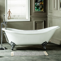 clawfoot freestanding custom size hotel project cast iron bathtubs for sale