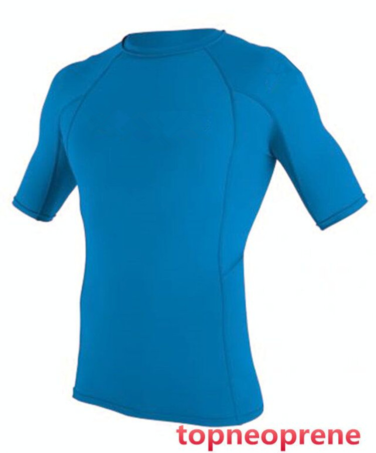 Lycra compression Men's short sleeve Rash Guard