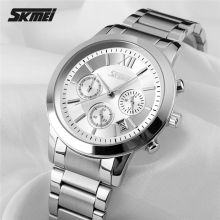 quartz stainless steel back watch for men with waterproof