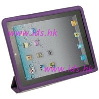 Purple Ultra Slim Leather Case for iPad 2