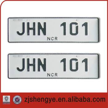 european aluminum relective best quality car license plate