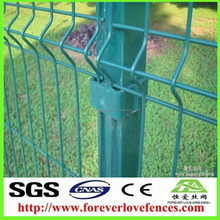 PVC/PE Coated Galvanized Wire Mesh Fence For Road Side With Square Post bending fence
