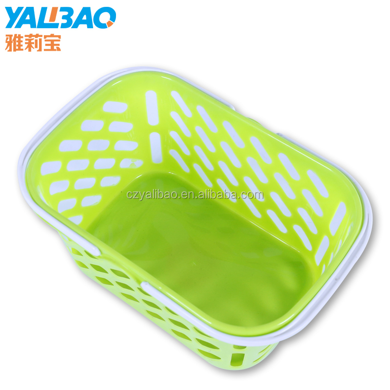 Hot Selling Cheap Plastic Shopping Basket With Handle
