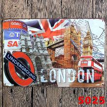 London Underground Retro tin sign printing