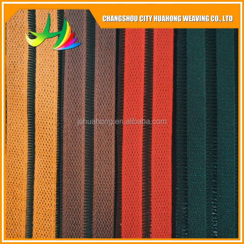 Color sandwich 3D air fabri,striped mesh fabric
