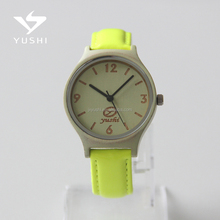 2017 Wholesale Japan Movement Hand Made Genuine Leather Quartz Wood Watch