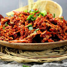 Chinese healthy hot Chili silk snacks for close friends