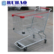 American Style Supermarket Shopping Trolley Carts Handcart With Baby Seat For Sale RH-SMD240