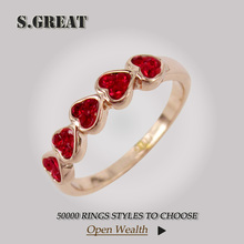 14k new design ruby ladies gold finger ring for girl