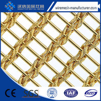 alibaba website curtain wall woven decorative metal mesh/decorative metal mesh drapery made in china